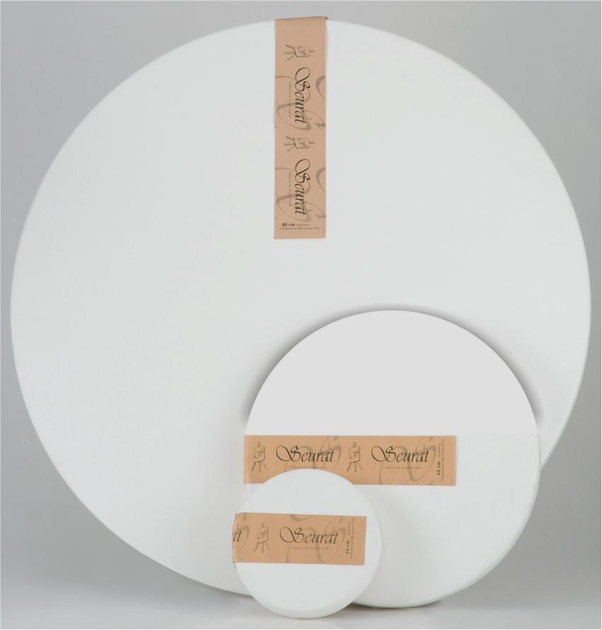 BASTIDOR SEURAT CIRCULAR TELA 03 80cm. - Teorema